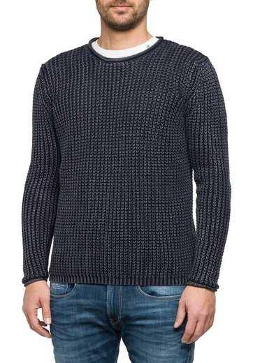 Replay Knitted Sweaters With Coarse Ribbed Pattern