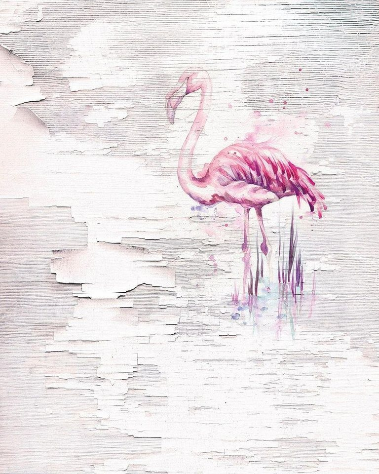 komar vlies fototapete pink flamingo 200 250 cm otto. Black Bedroom Furniture Sets. Home Design Ideas