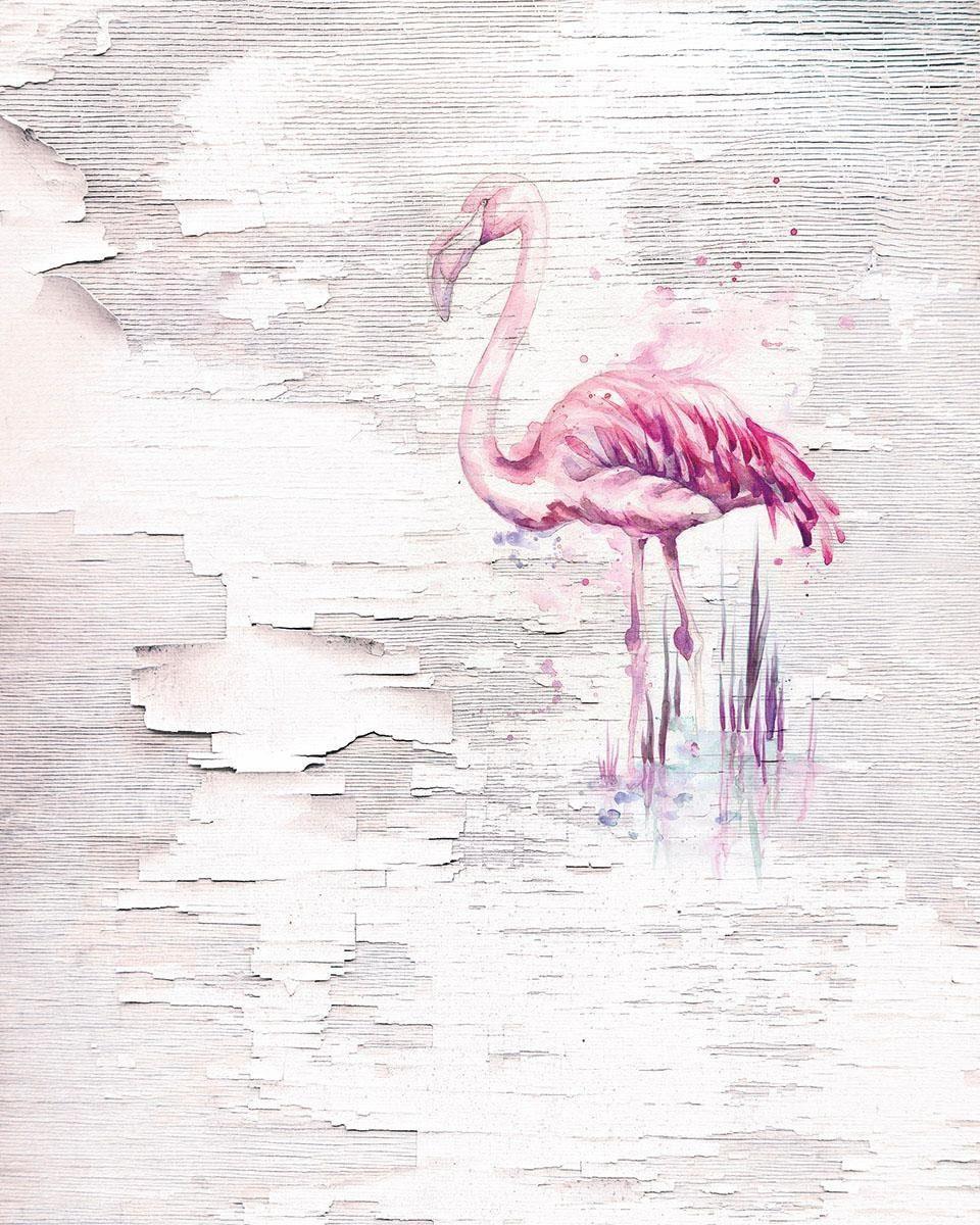 Komar Vlies Fototapete »Pink Flamingo« 200/250 cm