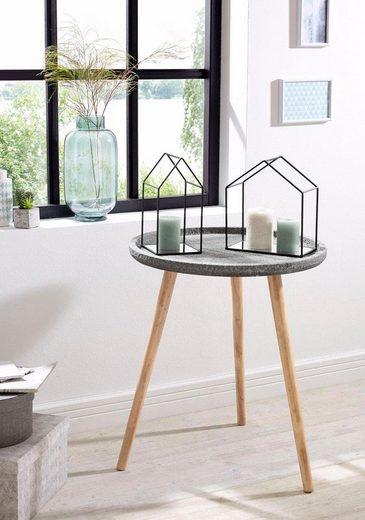 Zeller Present Beistelltisch »Beton«, rund, MDF/Kiefer