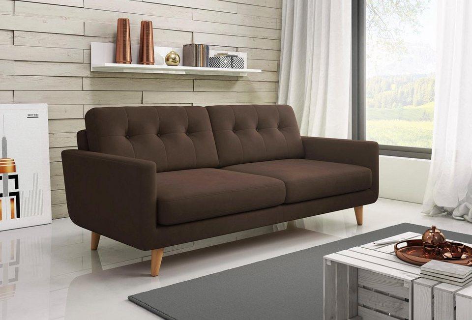 Polstermöbel Färben inosign 3 sitzer sofa in modernen farben kaufen otto