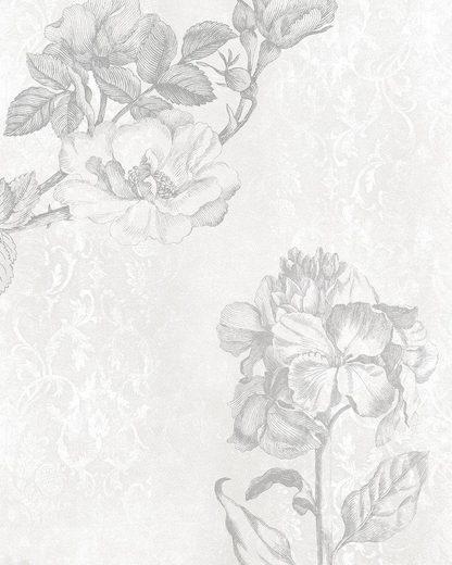 Vliestapete »Baroque grey«, naturalistisch