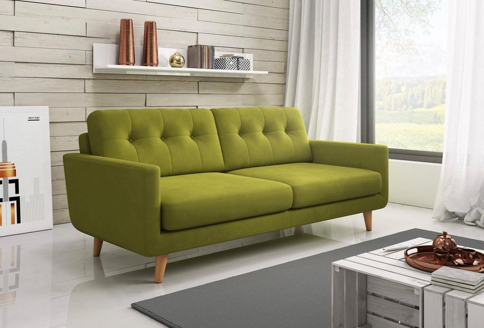 inosign 3 sitzer sofa in modernen farben kaufen otto. Black Bedroom Furniture Sets. Home Design Ideas