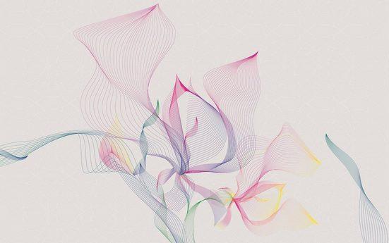 Vliestapete »Spring Leaves«, grafisch
