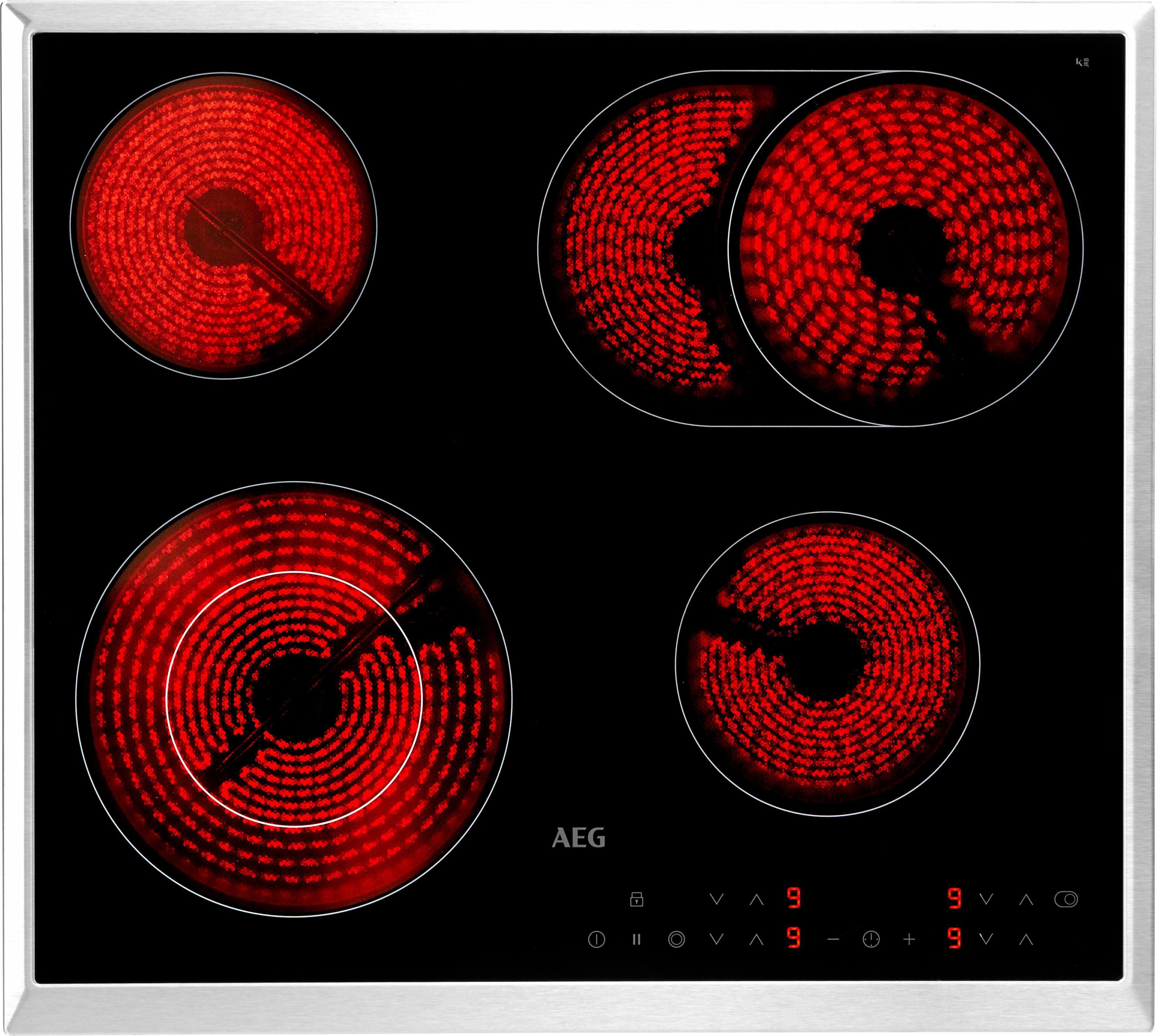 AEG Elektro-Kochfeld HK634060XB, mit Stop&Go-Funktion