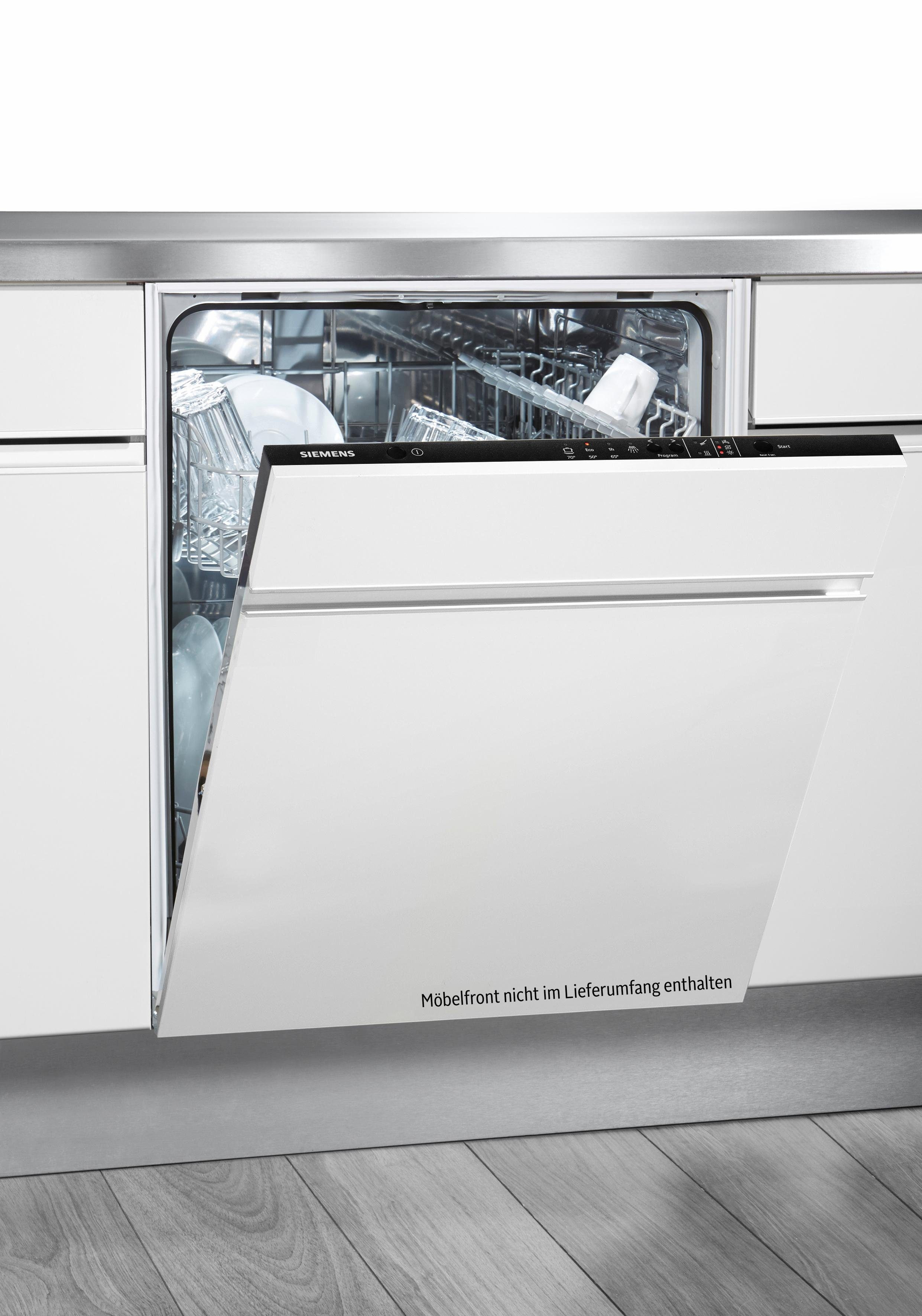 SIEMENS vollintegrierbarer Geschirrspüler, SX614X00AE, 11,7 l, 12 Maßgedecke