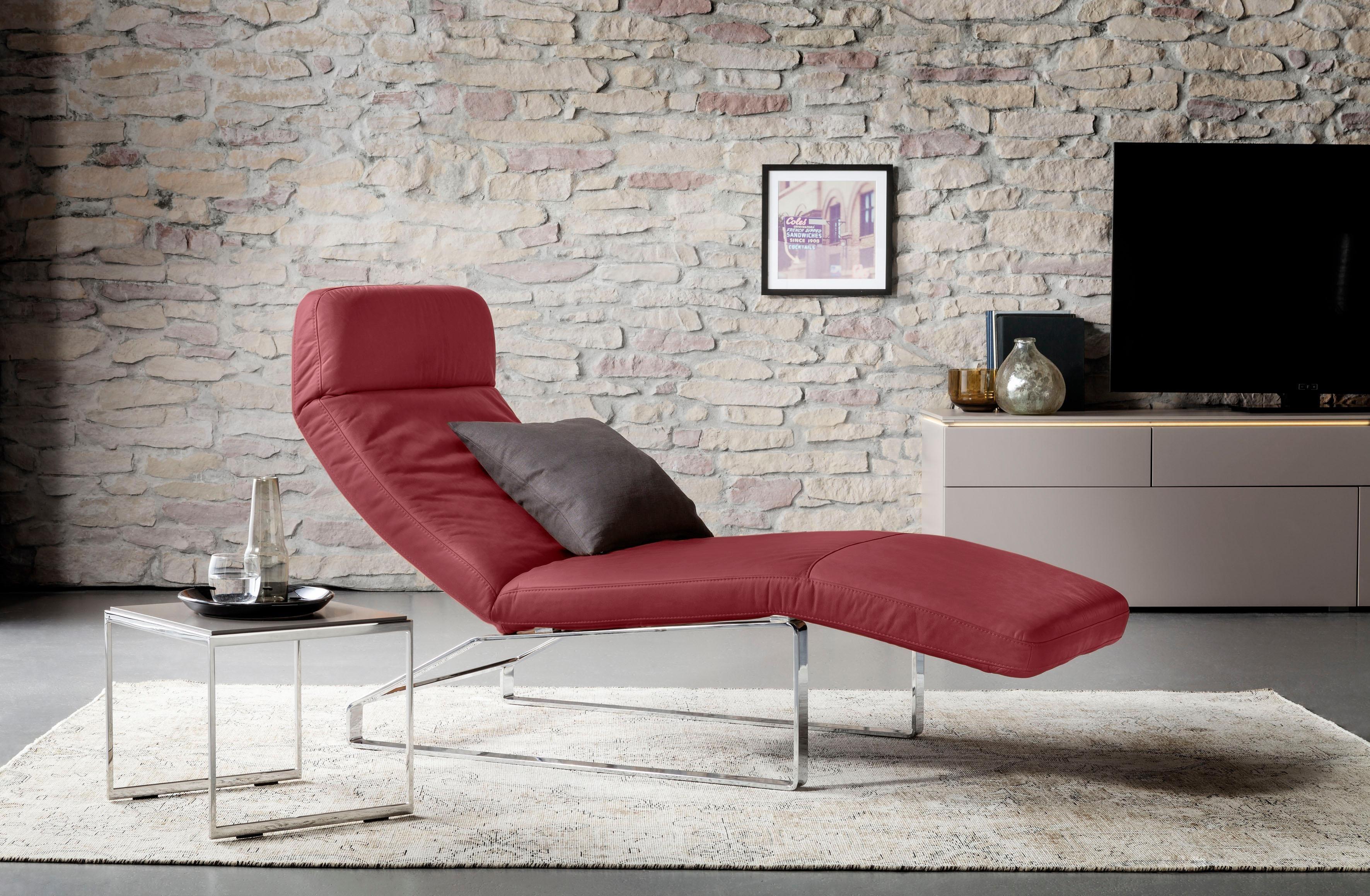 GALLERY M Relaxliege »Giulia« mit 5-fachem Rasterbeschlag | Wohnzimmer > Sessel > Relaxliegen | Microfaser - Leder - Flachgewebe - Baumwolle | Gallery M