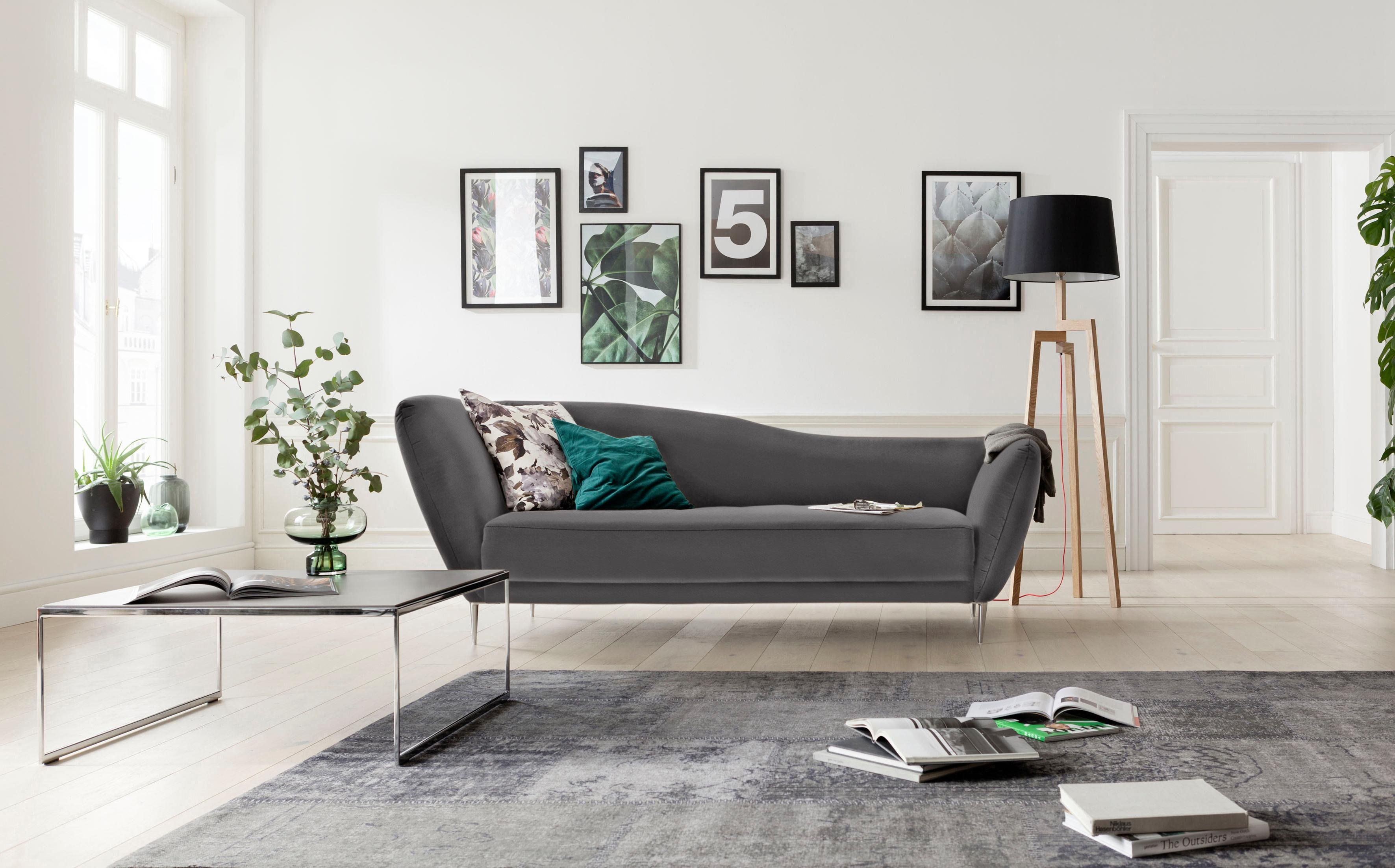 GALLERY M Recamiere »Vittoria« in fünf Bezugsqualitäten | Wohnzimmer > Sofas & Couches > Recamieren | Microfaser - Leder - Flachgewebe - Baumwolle | Gallery M