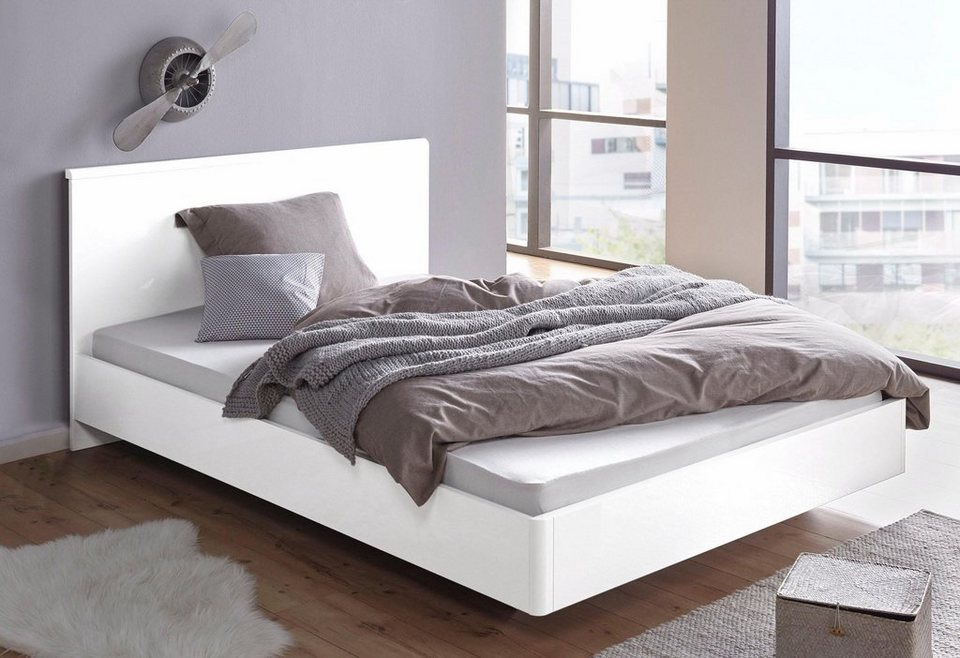 Bett, mit Hochglanz-Oberfläche, In Schwebe-Optik online kaufen | OTTO