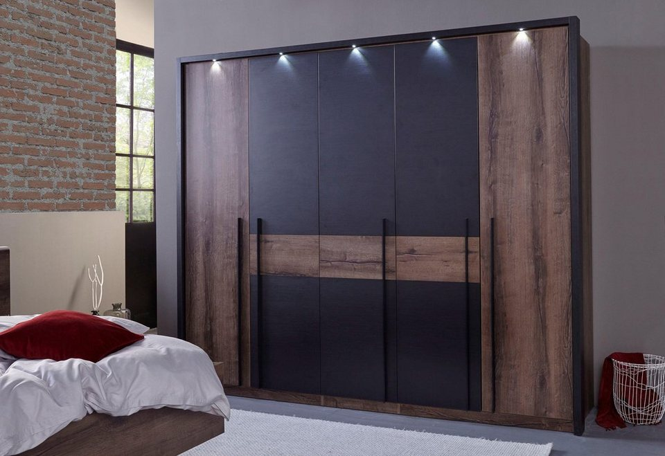 forte kleiderschrank bellevue mit led beleuchtung online kaufen otto. Black Bedroom Furniture Sets. Home Design Ideas