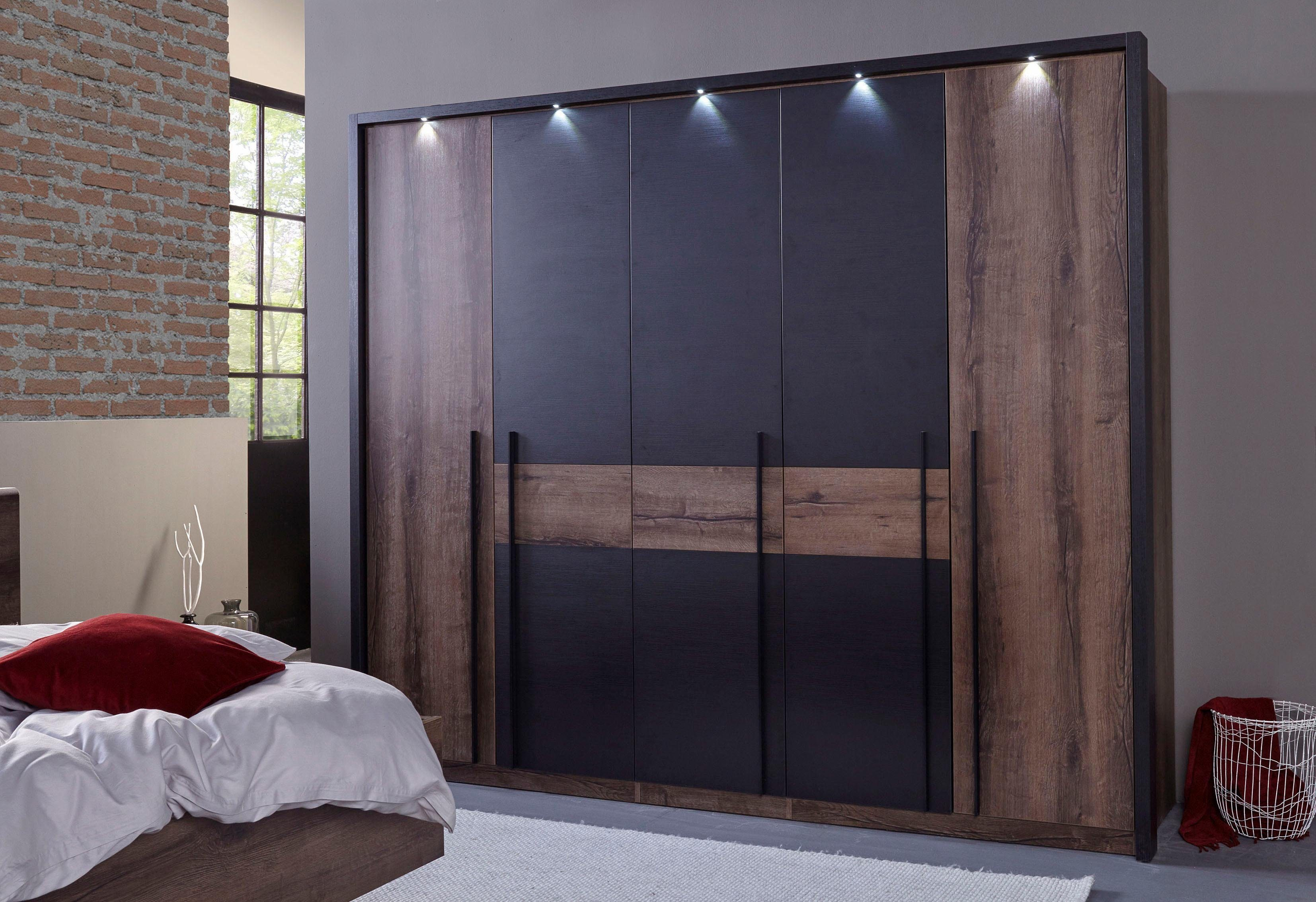 FORTE Kleiderschrank »Bellevue« mit LED-Beleuchtung