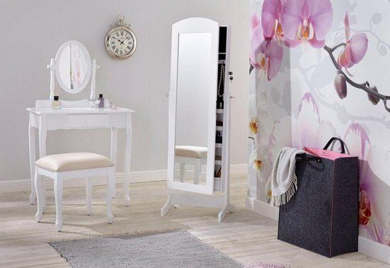 Home affaire Schminktisch (Set), mit ovalem Spiegel und Hocker