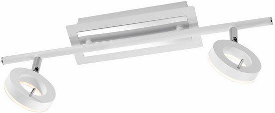 Paul Neuhaus Deckenleuchte »SILEDA«, inklusive festverbautem LED Leuchtmittel,IP44 spritzwassergeschützt,Acryglas satiniert (nicht wechselbar), Badeleuchte,Spotköpfe verstellbar,3000 Kelvin