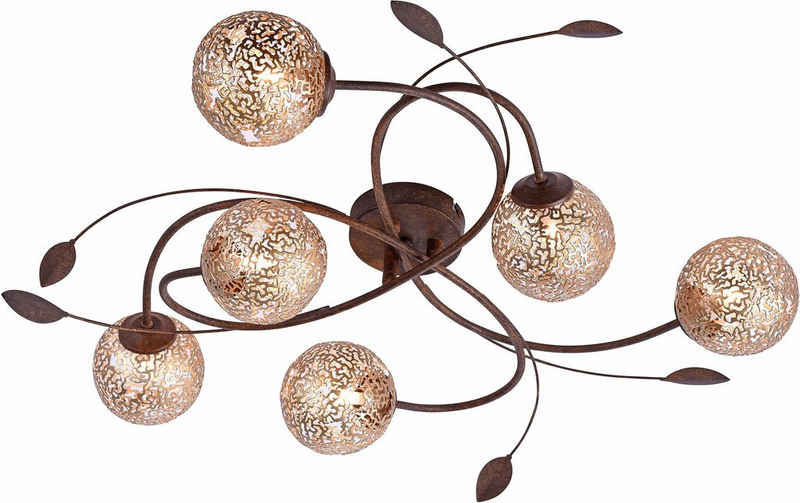 Paul Neuhaus Deckenleuchte »GRETA«, mit goldfarbenen Metallschirmen, ohne Leuchtmittel