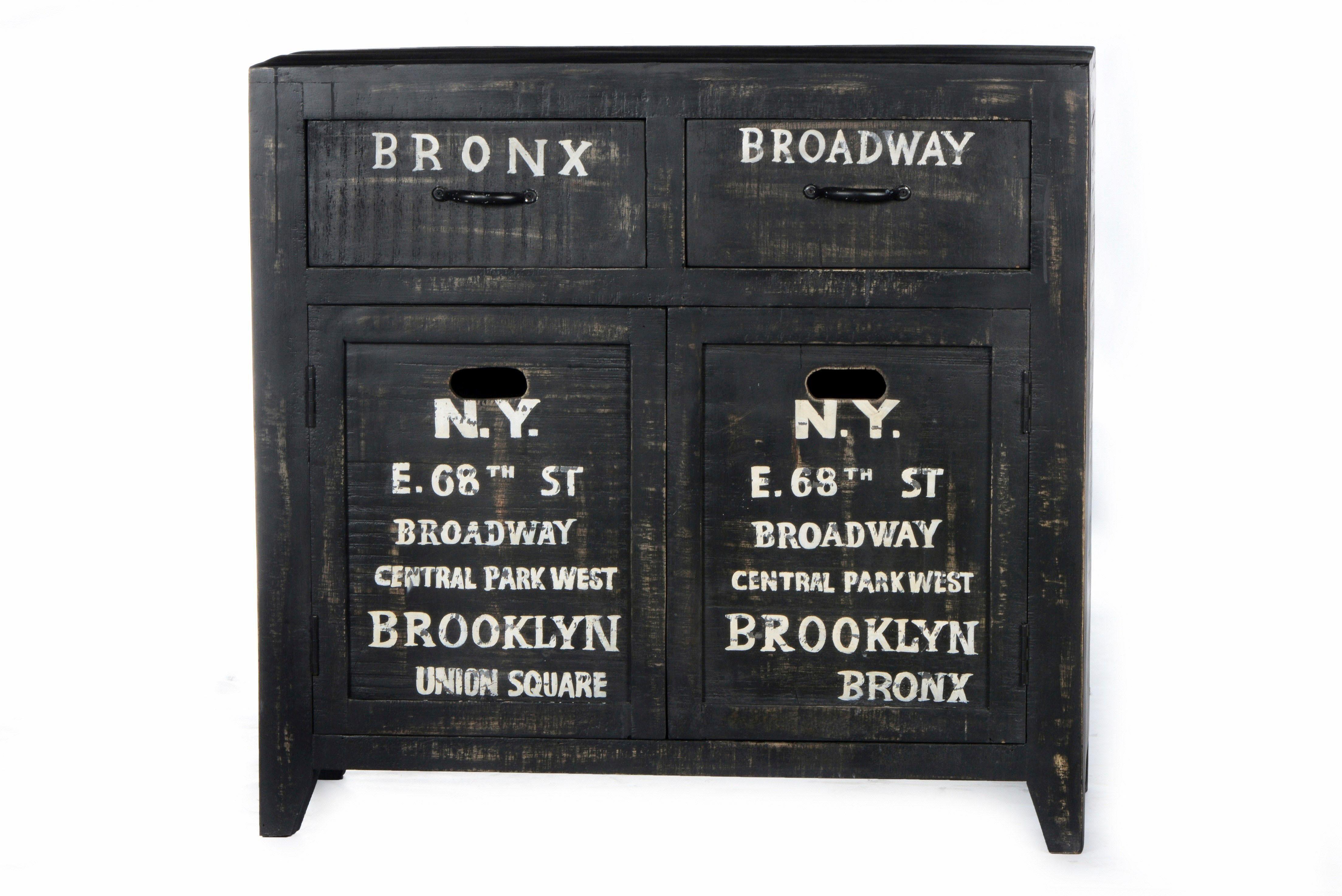 SIT Sideboard »Bronx«, Breite 90 cm, mit zwei Türen und zwei Schubladen