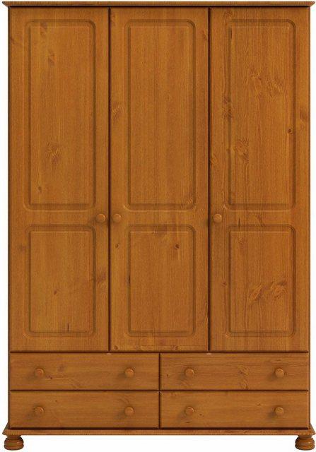 Kleiderschränke - Home affaire Kleiderschrank »Richmond« mit 3 Türen und 4 Schubladen, Breite 129 cm  - Onlineshop OTTO