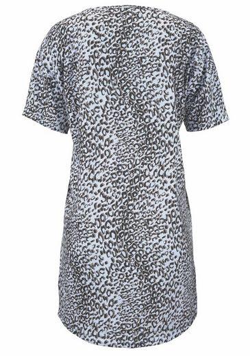 Vivance Dreams Bigshirt mit Leoparden-Print