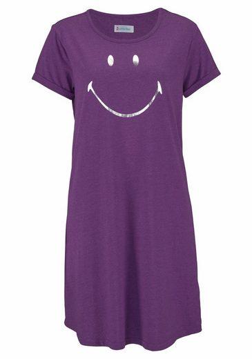 Petite Fleur Legere Bigshirts (2 Stück) mit Smileyprint