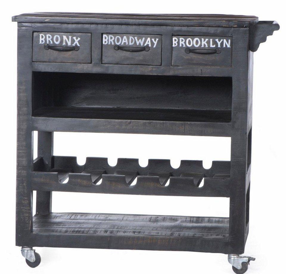 Küchenwagen Landhausstil sit küchenwagen bronx breite 180 cm mit drei schubladen