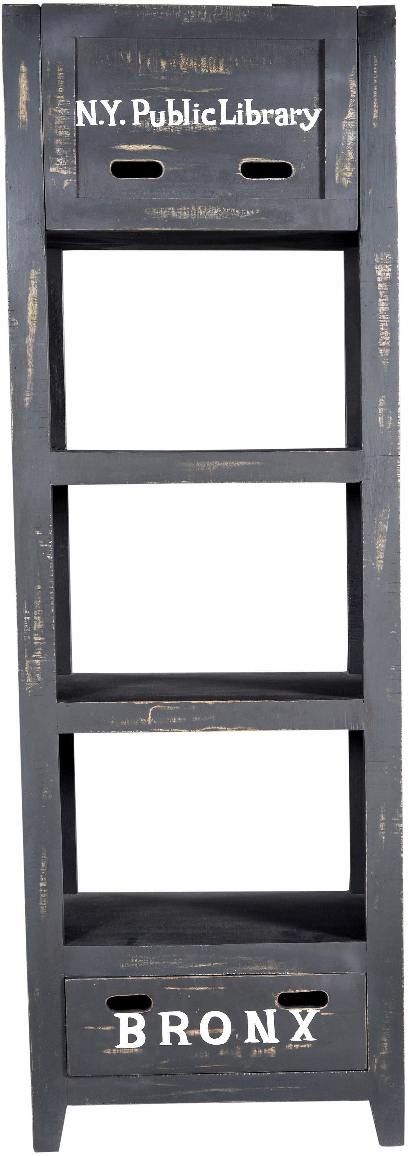 SIT Regal »Bronx«, Höhe 185 cm, mit drei offenen Fächern und einer Schublade