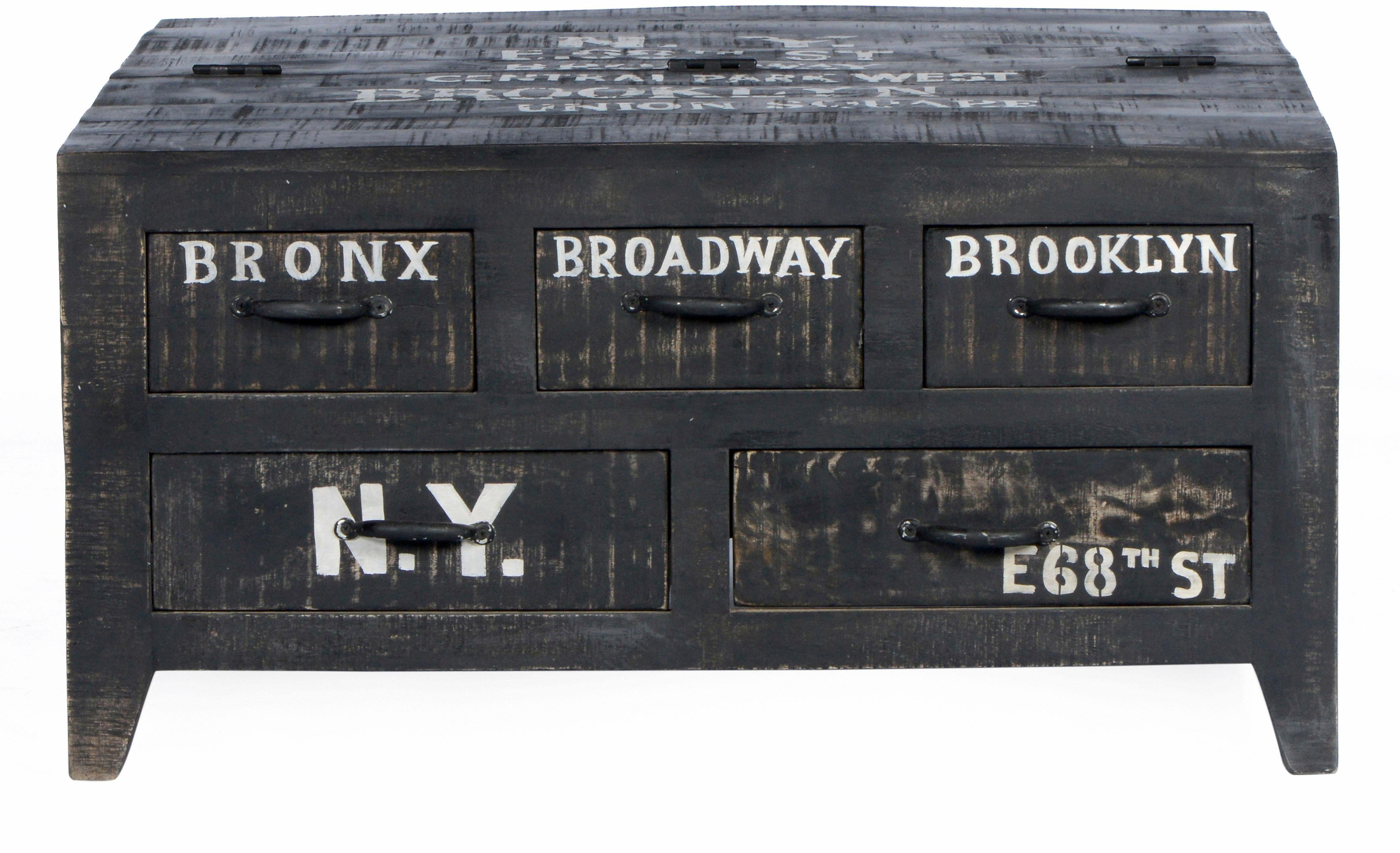 SIT Couchtischtruhe »Bronx«, Breite 90 cm, mit fünf Schubladen