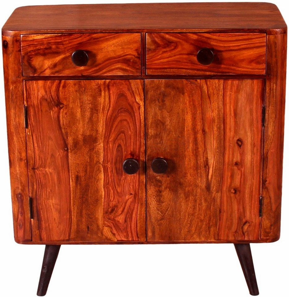 home affaire kommode knob breite 100 cm mit zwei t ren und zwei schubladen online kaufen otto. Black Bedroom Furniture Sets. Home Design Ideas