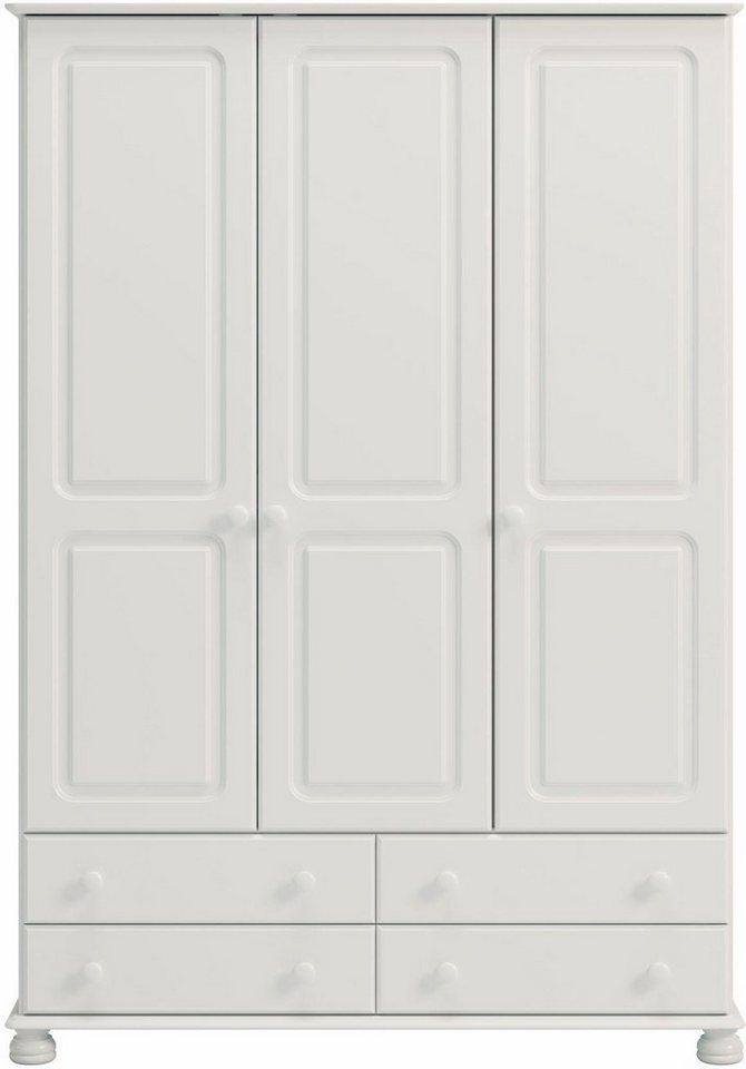 Home affaire Kleiderschrank »Richmond« mit 3 Türen und 4 Schubladen ...