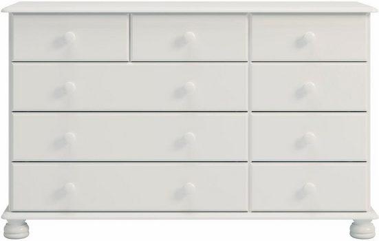 Home affaire Kommode »Richmond«, mit 9 Schubladen, Breite 121 cm