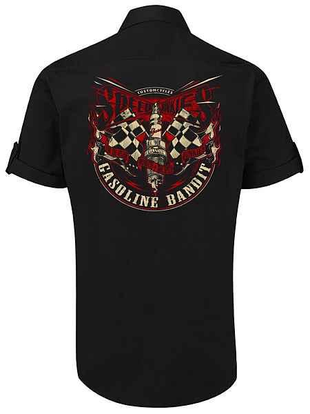 Gasoline Motiv Bandit® Schwarz Mit Hemd Lässigem 9WHYEIeD2