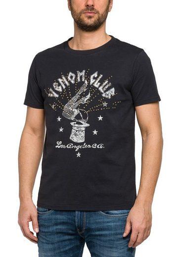 Replay T-shirt Avec Impression Et Goujons