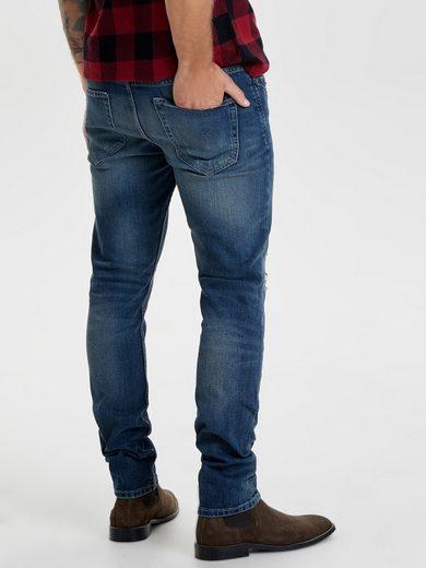 Only & Sons Weft Med Blue Slim Fit Jeans