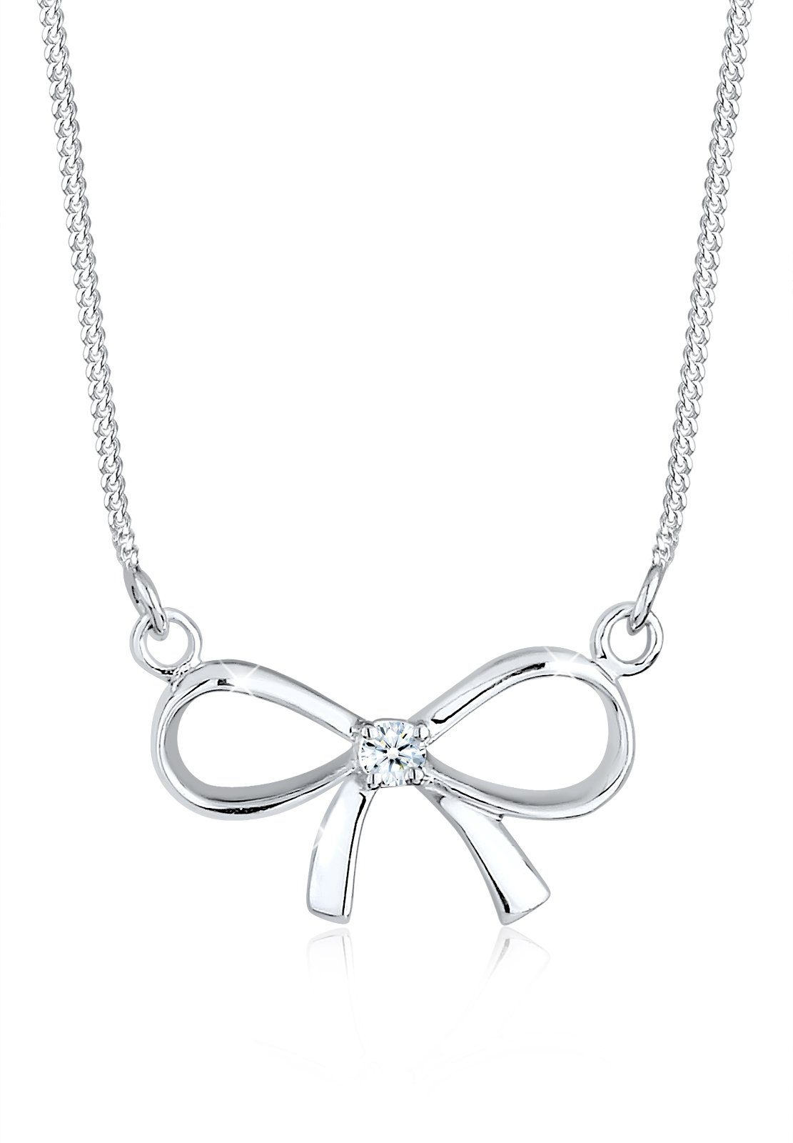 Diamore Halskette »Schleife Diamant 925 Sterling Silber«