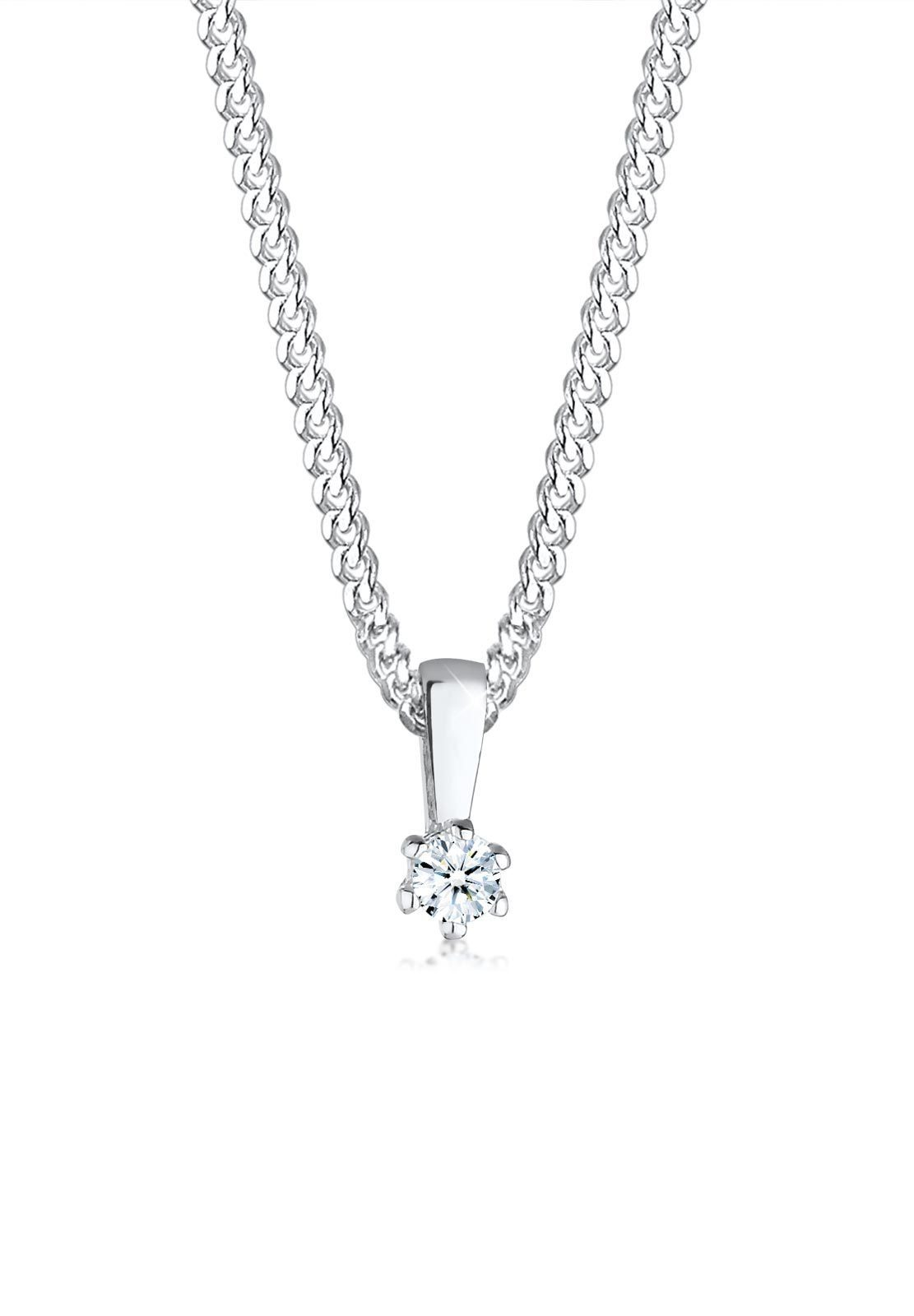 Diamore Halskette »Kreis Diamant Geschenkidee 925 Sterling Silber«
