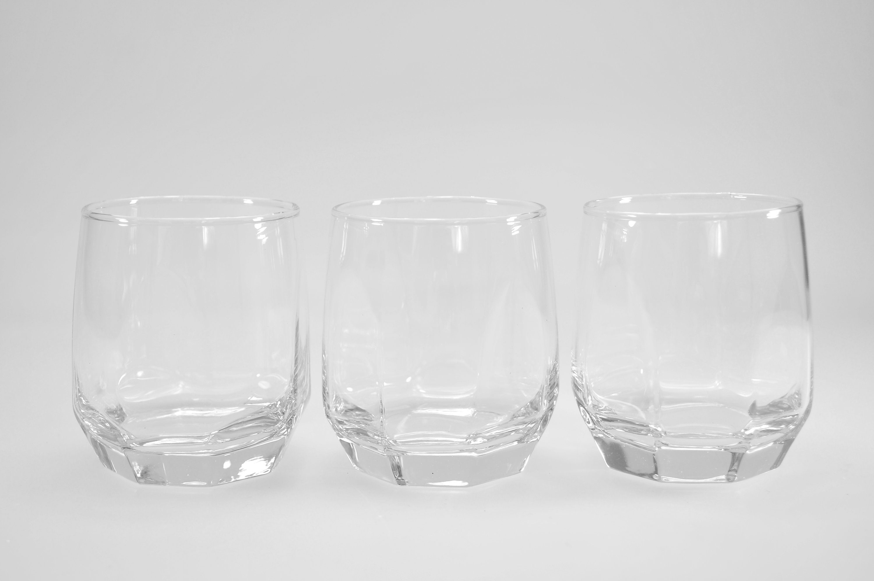 HTI-Living Whiskeyglas 3er-Set Diamond »Lav«