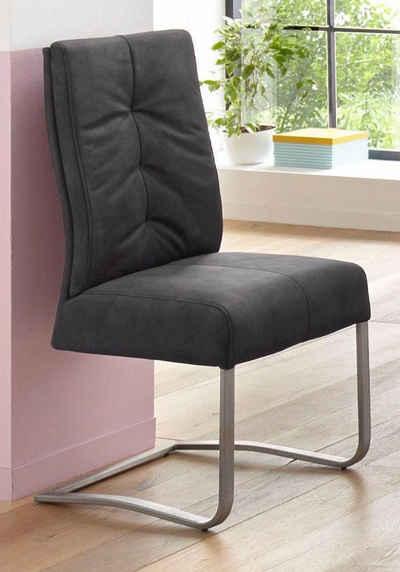 MCA furniture Esszimmerstuhl »Salva Schwingstuhl 1« (Set, 2 Stück), mit Tonnentaschenfederkern, belastbar bis max. 120 kg