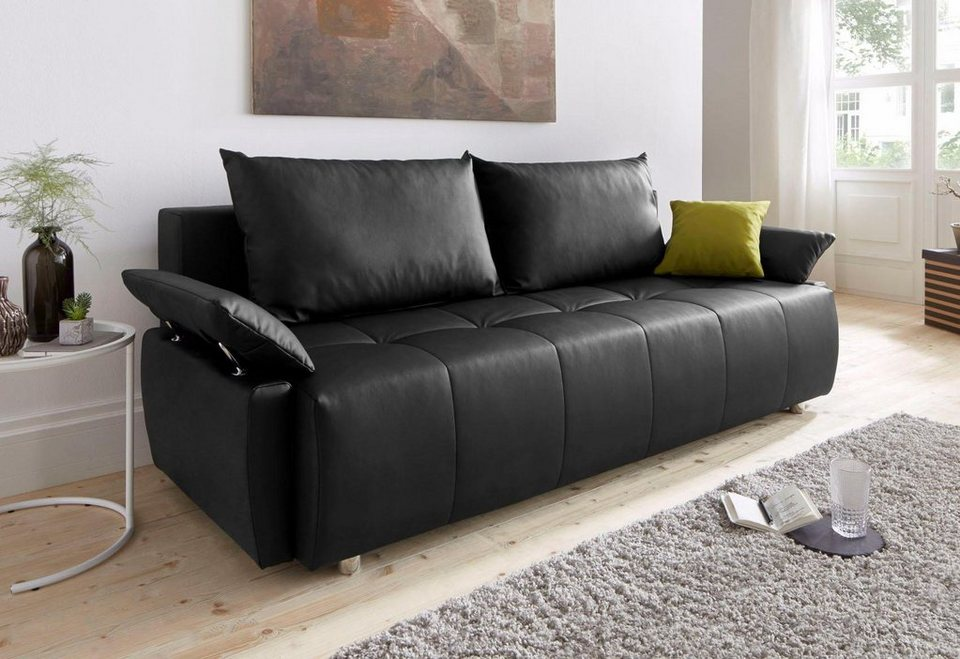 schlafsofa mit bettkasten und federkern interesting die stylisches design schlafsofa orlando. Black Bedroom Furniture Sets. Home Design Ideas