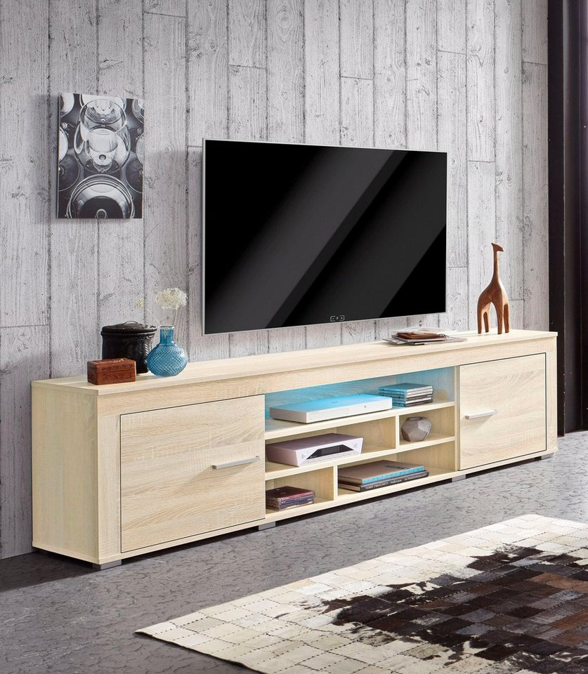 lowboard breite 180 cm ma e b t h 180 35 50 online kaufen otto. Black Bedroom Furniture Sets. Home Design Ideas