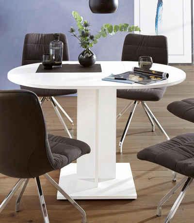 Runder Esstisch in weiß online kaufen | OTTO