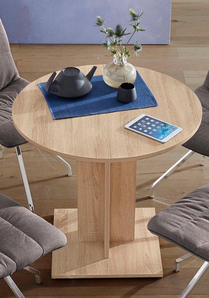 esstisch rund durchmesser 80 cm mit auszugsfunktion online kaufen otto. Black Bedroom Furniture Sets. Home Design Ideas