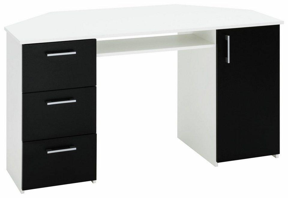 schreibtisch weiss schwarz. Black Bedroom Furniture Sets. Home Design Ideas