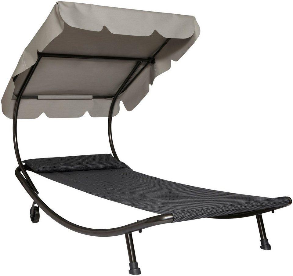 leco gartenliege stahl textil beige anthrazit otto. Black Bedroom Furniture Sets. Home Design Ideas
