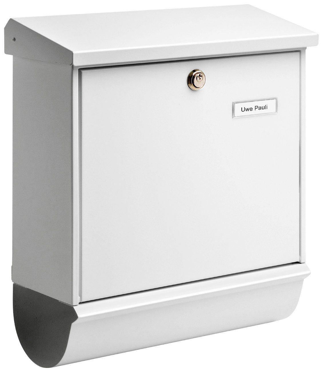 BURG WÄCHTER Briefkasten »Comfort 91300 W«, Stahlblech-Briefkastenset