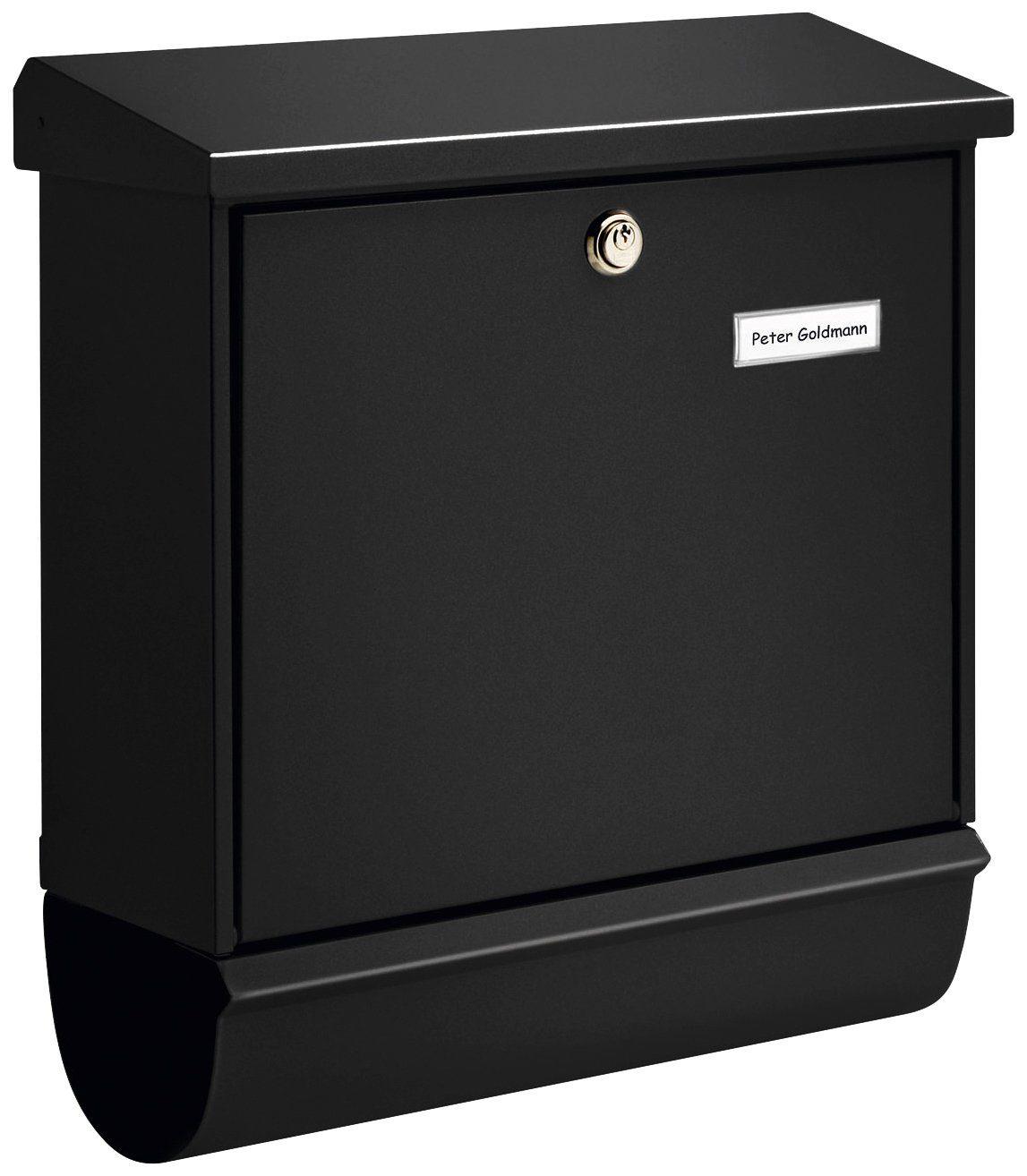 BURG WÄCHTER Briefkasten »Comfort 91300 S«, schwarz, Briefkastenset mit Zeitungsrolle