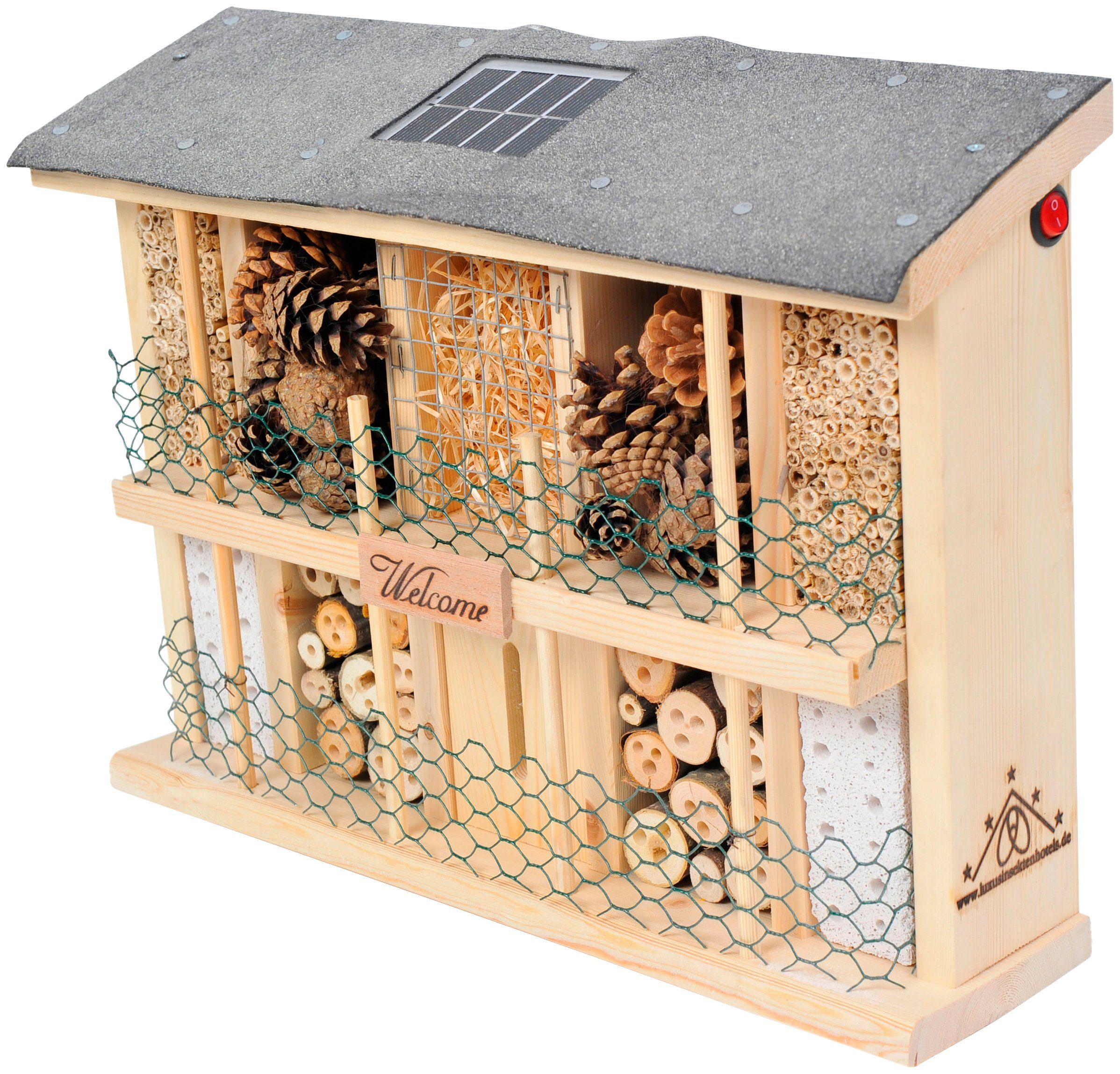 LUXUSINSEKTENHOTELS Insektenhotel »Landsonne«, BxTxH: 47x12,5x34 cm