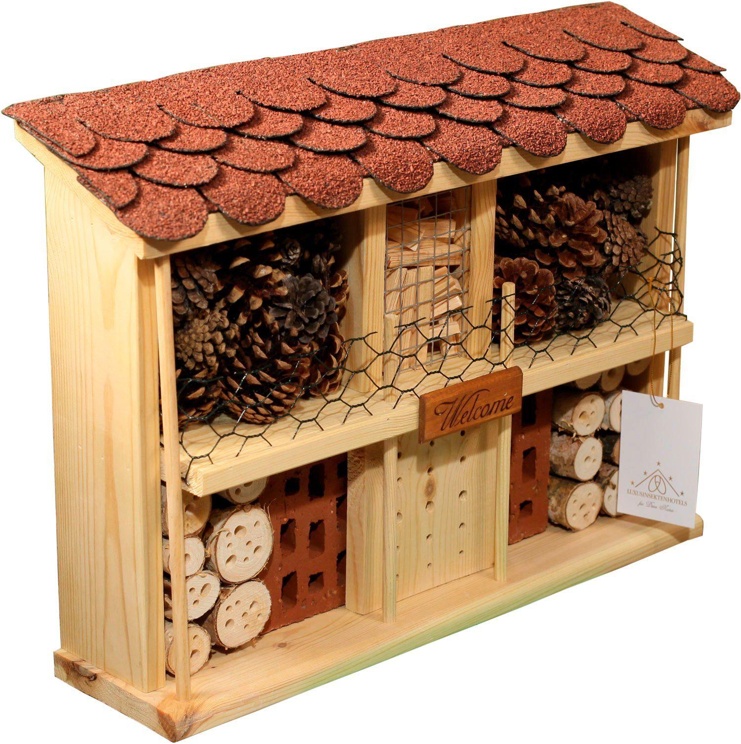 LUXUSINSEKTENHOTELS Insektenhotel »Landsitz Komfort«, BxTxH: 47x12,5x34 cm, fertig montiert