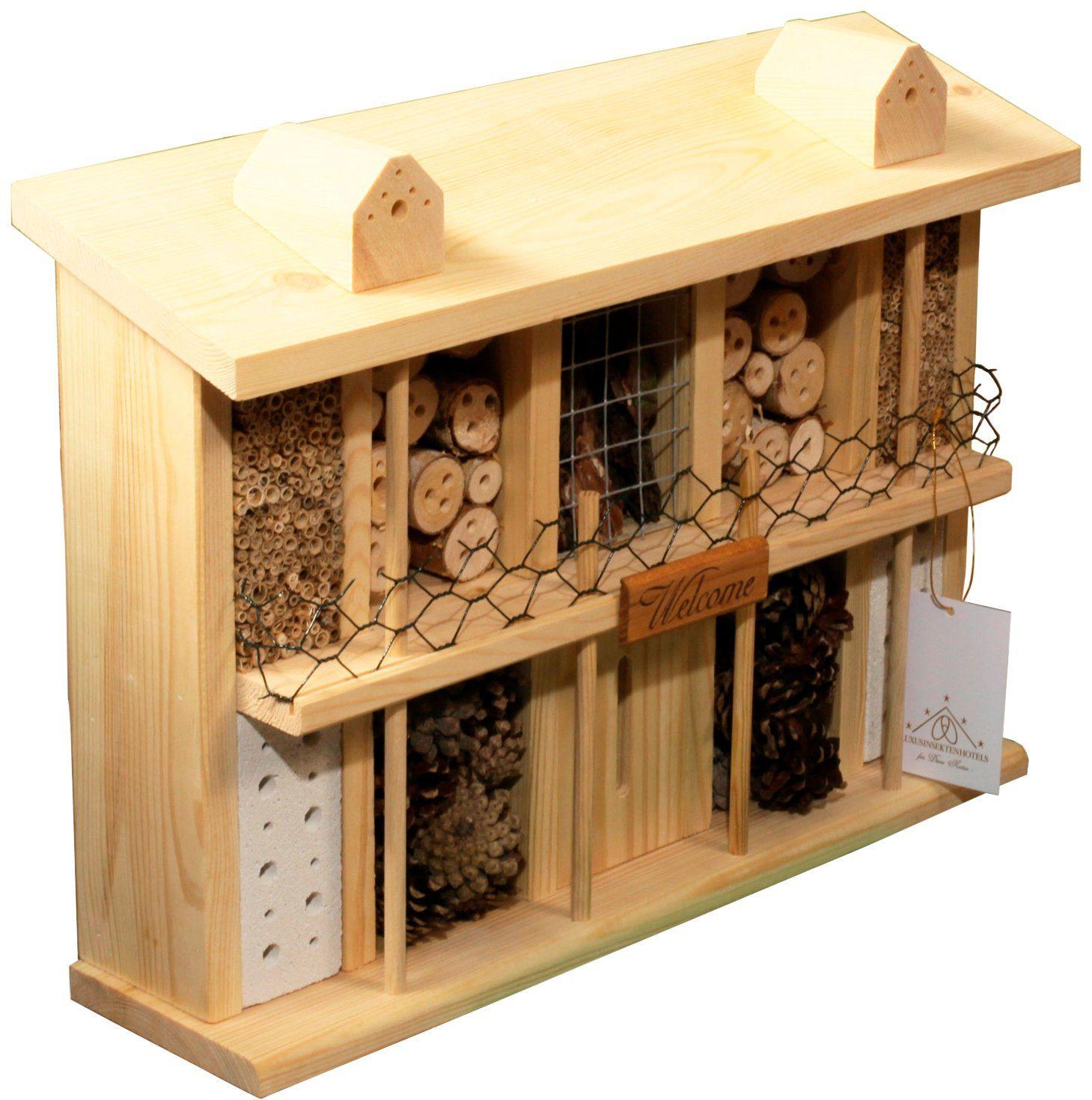 LUXUSINSEKTENHOTELS Insektenhotel »Landsitz Superior«, BxTxH: 47x12,5x34 cm, zur Selbstmontage