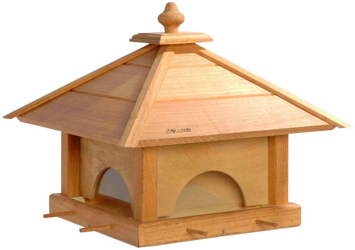 LUXUS-VOGELHAUS Vogelhaus »4 Schubladen«, BxTxH: 49x49x39 cm | Garten > Tiermöbel > Vogelhäuser-Vogelbäder | Braun | LUXUS-VOGELHAUS