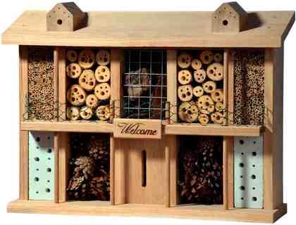 LUXUSINSEKTENHOTELS Insektenhotel »Landsitz Superior«, BxTxH: 47x12,5x34 cm, fertig montiert