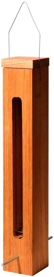 LUXUS-VOGELHAUS Futterspender , BxTxH: 7x7x43 cm | Garten > Tiermöbel > Vogelhäuser-Vogelbäder | Braun | LUXUS-VOGELHAUS