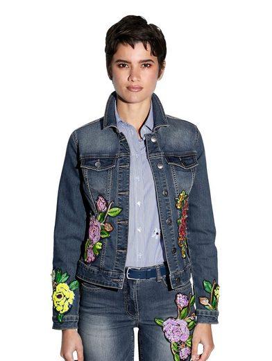 Amy Vermont Jeansjacke mit Stickerei